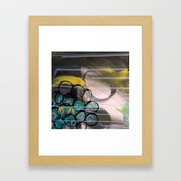 grapes pillow Framed Art Print