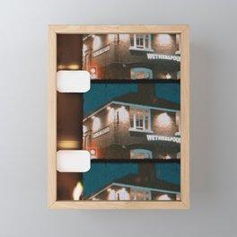 8mm vintage film strip Old English House  Framed Mini Art Print