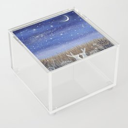Hares and the Crescent Moon Acrylic Box