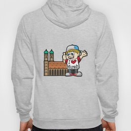 I LOVE MUNICH Bavarin Frauenkirch Oktoberfest Hoody