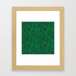 Elephant Ear house plant tropical garden green minimal pattern Framed Art Print