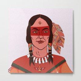 Native American - man Metal Print