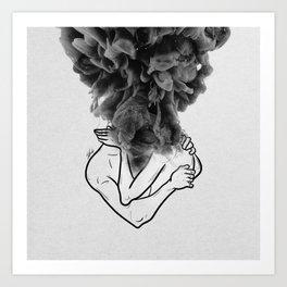 Let's make a storm of love. Art Print