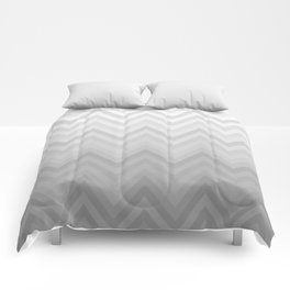 Chevron Fade Grey Comforters