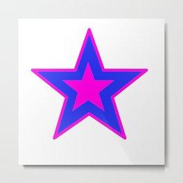 Star In Purple And Blue Metal Print
