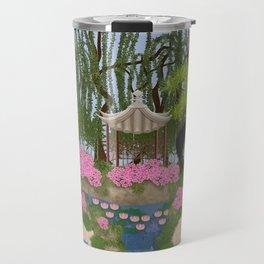 Karma and Dharma Girls in Chinese Garden Travel Mug