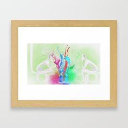 Think about u Framed Art Print