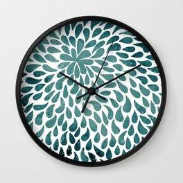Azure Painted Drops Wall Clock