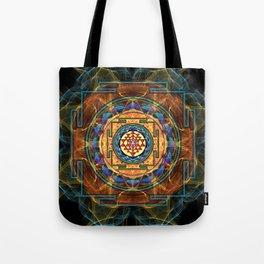 The Sri Yantra - Sacred Geometry Tote Bag