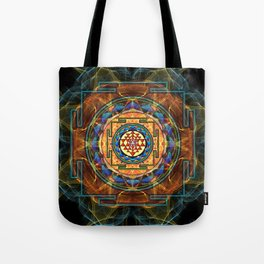 The Sri Yantra - Sacred Geometry Tote Bag