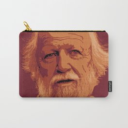 William Golding - crimson and gold portrait Carry-All Pouch