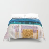 cityscape Duvet Covers featuring CITYSCAPE by Catspaws