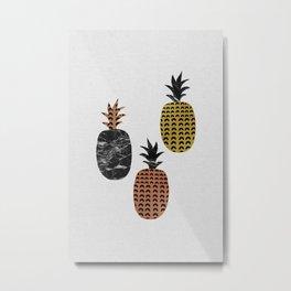 Pineapples Art Print Metal Print