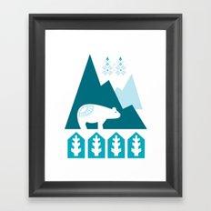 Heart the Polar Bear Framed Art Print