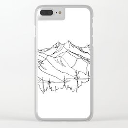 Squamish Summits :: Single Line Clear iPhone Case