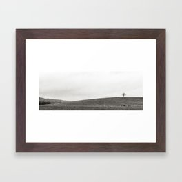 Tree on top of the hill Framed Art Print