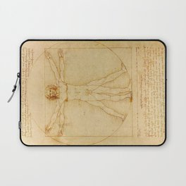 Leonardo da Vinci, Vitruvian Man Laptop Sleeve