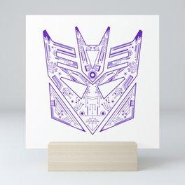 Decepticon Tech Purple Mini Art Print