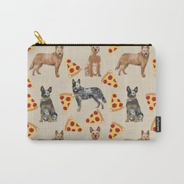 Australian Cattle Dog pizza slice pet friendly dog breed dog pattern art Carry-All Pouch