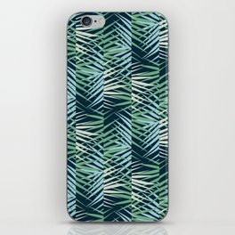 Areca Palm Leaves Stripe iPhone Skin