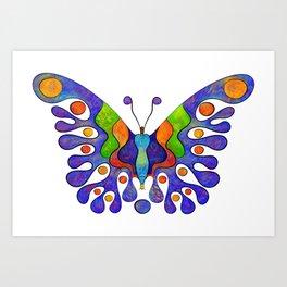 Elenissina - colourful butterfly Art Print