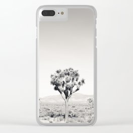 Joshua Tree B&W Clear iPhone Case
