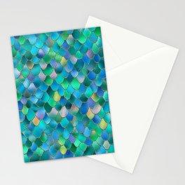 Summer Ocean Metal Mermaid Scales Stationery Cards