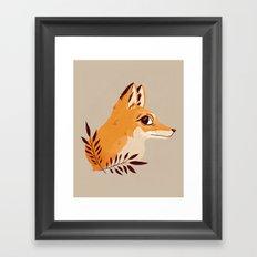 Fox Familiar Framed Art Print