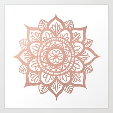 New Rose Gold Mandala Art Print