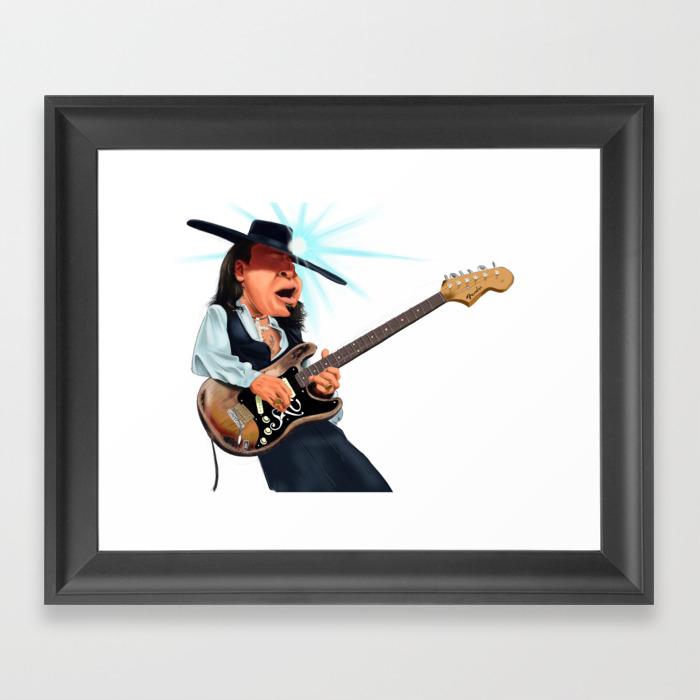 Stevie Ray Vaughan Framed Art Print by Johnmichaeldezinz FRM8256772
