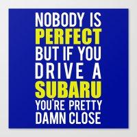 subaru Canvas Prints featuring Subaru Owners  by Barbo's Art