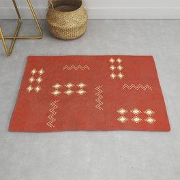 Burnt Orange Tribal rug Rug