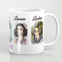 Shecience Franklin Hypatia Curie Lamarr Lovelace Coffee Mug