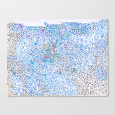 doomsday in blue Canvas Print