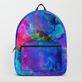abstract sea waves cb Backpack