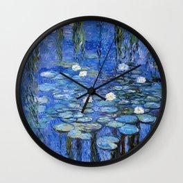 waterlilies a la Monet Wall Clock