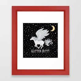 Glitter Butt! Framed Art Print