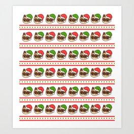 Merry Christmas cats Art Print
