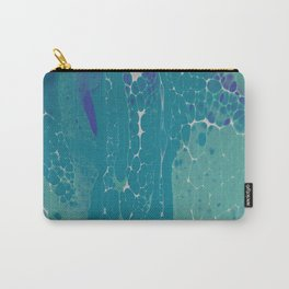 Blue Green and White Cells Carry-All Pouch