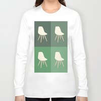 eames Long Sleeve T-shirts featuring Eames x 4 #2 by bittersweat