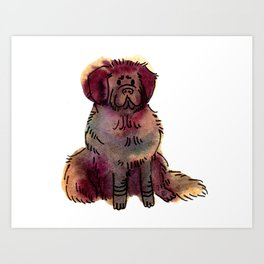 Burt - Dog Watercolour Painting Art Print