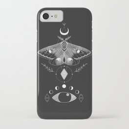 Metaphys Moth - Black iPhone Case