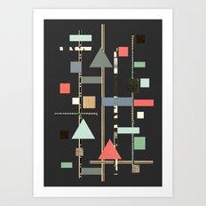 Abstract Aztec No. 1 Art Print