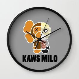 Kaws Milo Grey Wall Clock