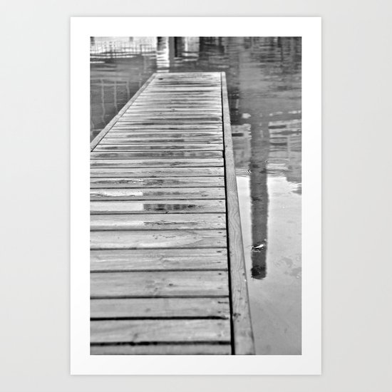 Down On The Dock Art Print