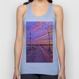 Sunrise Huntington Beach Pier   11/12/13 Unisex Tank Top