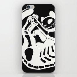 Cat Skeleton Gothic Skull And Bone Art iPhone Skin