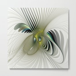 Fractal Have A Look, Modern Abstract Fantasy Metal Print