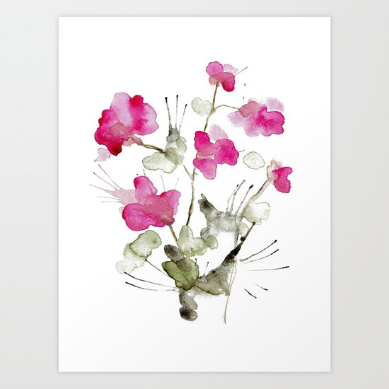 Keep blooming Art Print
