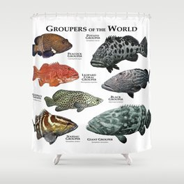 Groupers of the World Shower Curtain